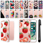 "For Apple iPhone 8 Plus iPhone 7 Plus 5.5"" Clear Soft Gel TPU Case Cover + Pen"