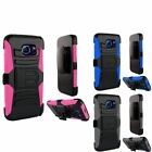 Heavy Duty Armor Case Cover w/ Holster Stand For Samsung Galaxy S6 Edge