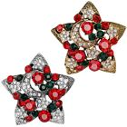Shining Christmas Star Crystal Brooch Pin Cute Corsage Xmas Gift Party Accessory