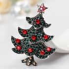 New Rhinestone Crystal Christmas Tree Brooches Pin Xmas Party Decoration Gift