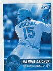 (4) Randal Grichuk 2017 TOPPS BUNT PHYSICAL BLUE PARALLEL LOT #87 CARDINALS