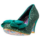Irregular Choice Ban Joe Womens Shoes Green New Shoes
