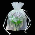 "4"" X 6"" EMBROIDERED LACE BEADED ORGANZA WEDDING FAVOR BAG-24/PK"