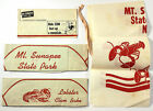 1950s MOUNT SUNAPEE STATE PARK Resort Lobster Clambake Lot Hat Apron Brochure NH