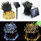 100 500 LED Solar Power Fairy Lights String Garden Outdoor Party Wedding Decking