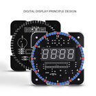 Digital Alarm LED Clock Snooze Light Control Backlight Time Thermometer DIY Kit