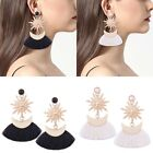 Fashion Lady Star Charms Fringe Tassel Dangle Bohemian Earring Jewelry Vintage