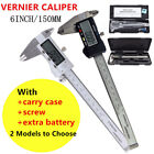 "LCD 6"" Digital Vernier Caliper 150mm Stainless Steel Micrometer Electronic Gauge"