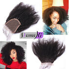 100% Raw Remy Virgin Afro Kinky Curly Human Hair Lace Closure with baby hair