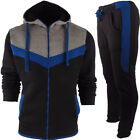MENS TOP BOTTOM FULL HOODED TRACKSUIT ZIP JOGGERS GYM SPORTS SIZE UK  S M L XL