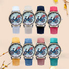 Fashion Casual Denim Leather World Map Dial Women Quartz Wrist Watch Analog
