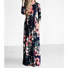 US Women BOHO Floral Print Beach Dress Lady Evening Party Long Sleeve Maxi Dress <br/> *US Fast Shipping*High Quality*Good Condition*