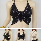 Sequin Butterfly Pattern Bar Dancing Bar Belly dance butterfly Blouse For Ladies