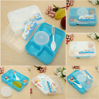 Microwave Plastic Bento Lunch Picnic Food Container Storage Box + Soup Spoon US