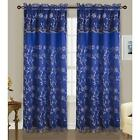 Easton Double Rod Pocket Curtain Panel 54 x 84 + 18  Attached Valance