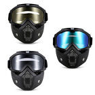 New MT-009 Motorcycle Anti-UV Goggles Sunglasses with Mask for Open Face Helmet