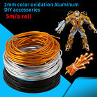 5 Meters Roll 2mm Colorful Aluminum Wire for DIY Craft Wrap Jewellery Making coi