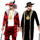 Pimp Mens Fancy Dress 1980s Big Daddy Gangster Swag Suit Adults Costume Outfits