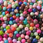 50pcs 6mm Czech Opaque Coated Glass Round Loose Spacer Beads DIY Findings