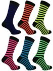 6 Mens Bassett Stripe Neon Teddy Boy Fancy Dress Party Socks UK 6-11