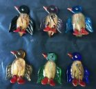 handmade Murano Lampwork Glass Mix Color Lovely Penguin Pendant Jewelry gift