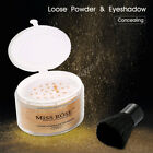 MISS ROSE Loose Powder & Eyeshadow Concealing Foundation Facial Cosmetic LY