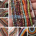 68~71pcs/Strand 8X3.5mm Bone Shape Crystal Glass Spacer Beads DIY Findings