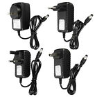 DC/AC 12V 1A 2A POWER SUPPLY CHARGER ADAPTER FOR LED LIGHT STRIP CAMERA CCTV UK