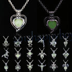 71Style Glowing Silver Plated Animal Charm Pendant Luminous Necklace Gifts
