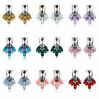 New Hot Women Casual Alloy Rhinestone Crystal Ear Stud Earrings Jewelry
