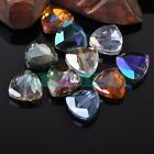 5pcs 18mm Triangle Faceted Glass Crystal Findings DIY Loose Spacer Beads