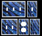 BLUE TRIBAL ABSTRACT LIGHT SWITCH COVER PLATE  MY ORIGINAL ARTWORK