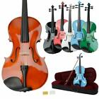 "New 16"" Professional Adult Acoustic Viola Natural Black Pink White Blue Green"