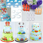 Fondant Cake Decor Cookie Plunger Cutter Mold Sugarcraft Paste Baking Tools XMAS
