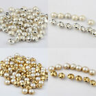 50Pcs Crystal Pearl Flatback Buttons Wedding Embellishment Sewing 6/7/9/10/12mm