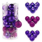 3/4/6/8cm Christmas Xmas Tree Ball Bauble Hanging Party Ornament Decoration