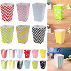 12pcs Popcorn Striped Wave Dot Paper Boxes Container Box Favour Bags Birthday