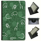 Giraffe Lion Elephant Hippo Drawing Universal Leather Case - Best Reviews Guide
