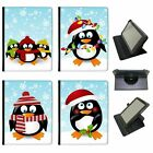 Christmas Holiday Season Penguins Universal Leather Case For KindleTablets