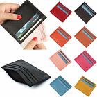 Men's Ladies Convenient sSmall Credit Card Leather Wallet Purse Pocket Case