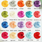 Women Pure Smooth Silk Scarf Shawl Wraps Hijabs 180x90cm Beach Cover up 21 color