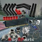DIY Black Intercooler Piping Red Couplers Turbo Kit for Acura Integra B-Series
