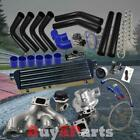 DIY Black Intercooler Piping Blue Couplers Turbo Kit for Acura Integra B-Series