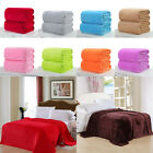 Super Soft Warm Solid Warm Micro Plush Fleece Blanket Throw Rug Sofa Bedding LP image