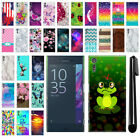 "For Sony Xperia XZ XZs F8331 5.2"" PATTERN HARD Back Case Phone Cover + Pen"