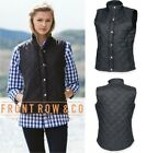 Front Row Ladies Womens Diamond Quilted Gilet Body Warmer - Shower proof Fabric