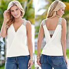 Womens Sleeveless V Neck Tank Top Vest Camisole Casual Blouse Top Party Clubwear