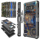 FOR SAMSUNG GALAXY NOTE 8 STAND CASE W/HOLSTER BELT CLIP HYBRID ARMOR HARD COVER
