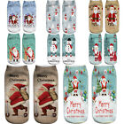 3D Printed Christmas Women Casual Socks Unisex Winter Autumn Low Cut Ankle Socks