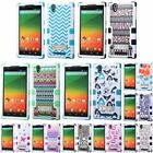 For ZTE Zmax Pattern Design TUFF Hybrid Hard Soft Skin Stand Case Cover